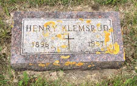 KLEMSRUD, HENRY - Hamlin County, South Dakota | HENRY KLEMSRUD - South Dakota Gravestone Photos
