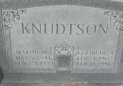 KNUDTSON, MARTIN M - Hamlin County, South Dakota | MARTIN M KNUDTSON - South Dakota Gravestone Photos