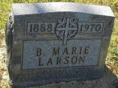 LARSON, B MARIE - Hamlin County, South Dakota   B MARIE LARSON - South Dakota Gravestone Photos