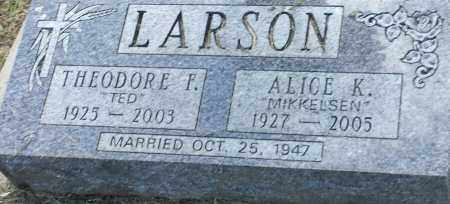 LARSON, THEODORE F - Hamlin County, South Dakota | THEODORE F LARSON - South Dakota Gravestone Photos