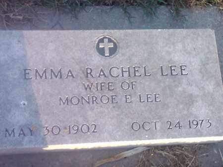 LEE, EMMA RACHEL - Hamlin County, South Dakota   EMMA RACHEL LEE - South Dakota Gravestone Photos