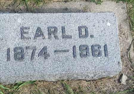 LEE, EARL D - Hamlin County, South Dakota | EARL D LEE - South Dakota Gravestone Photos
