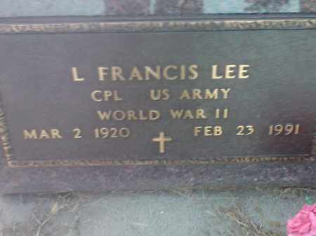 LEE, L FANCIS (MILITARY) - Hamlin County, South Dakota | L FANCIS (MILITARY) LEE - South Dakota Gravestone Photos