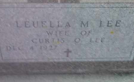 LEE, LEUELLA M - Hamlin County, South Dakota   LEUELLA M LEE - South Dakota Gravestone Photos