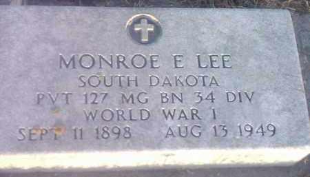 LEE, MONROE E (MILITARY) - Hamlin County, South Dakota | MONROE E (MILITARY) LEE - South Dakota Gravestone Photos