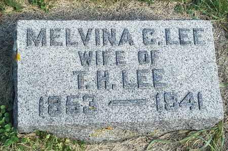 LEE, MELVINA C - Hamlin County, South Dakota   MELVINA C LEE - South Dakota Gravestone Photos