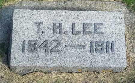 LEE, T. H. - Hamlin County, South Dakota   T. H. LEE - South Dakota Gravestone Photos