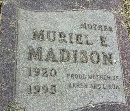MADISON, MURIEL E - Hamlin County, South Dakota | MURIEL E MADISON - South Dakota Gravestone Photos