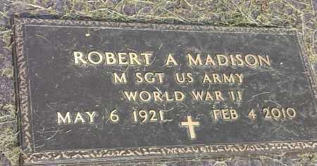 "MADISON, ROBERT A ""MILITARY"" - Hamlin County, South Dakota | ROBERT A ""MILITARY"" MADISON - South Dakota Gravestone Photos"