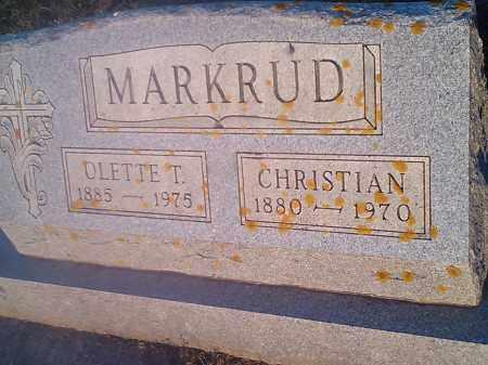 MARKRUD, CHRISTIAN - Hamlin County, South Dakota | CHRISTIAN MARKRUD - South Dakota Gravestone Photos