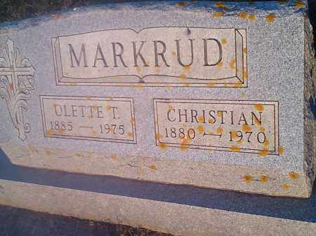 MARKRUD, OLLETTE T - Hamlin County, South Dakota | OLLETTE T MARKRUD - South Dakota Gravestone Photos