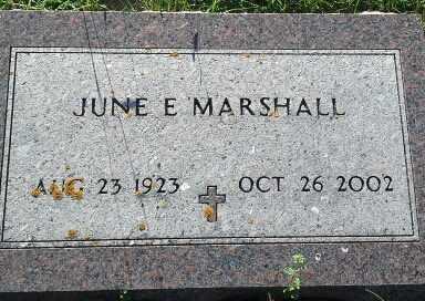 MARSHALL, JUNE E - Hamlin County, South Dakota | JUNE E MARSHALL - South Dakota Gravestone Photos