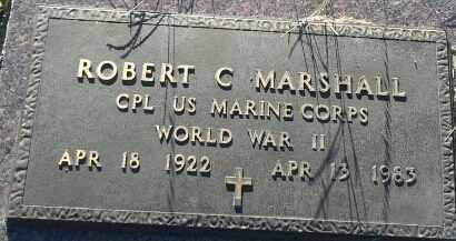 """MARSHALL, ROBERT C """"MILITARY"""" - Hamlin County, South Dakota   ROBERT C """"MILITARY"""" MARSHALL - South Dakota Gravestone Photos"""