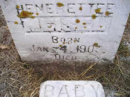 MEISEL, HENERETTEE - Hamlin County, South Dakota   HENERETTEE MEISEL - South Dakota Gravestone Photos