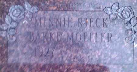 MOELLER, MINNIE RIECK - Hamlin County, South Dakota   MINNIE RIECK MOELLER - South Dakota Gravestone Photos