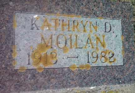 MOILAN, KATHRYN D - Hamlin County, South Dakota | KATHRYN D MOILAN - South Dakota Gravestone Photos