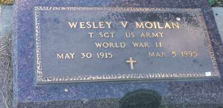 "MOILAN, WESLEY V ""MILITARY"" - Hamlin County, South Dakota   WESLEY V ""MILITARY"" MOILAN - South Dakota Gravestone Photos"