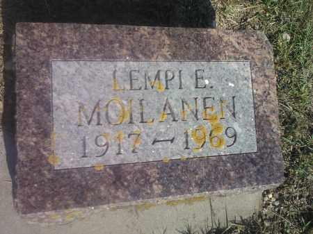 MOILANEN, LEMPI E - Hamlin County, South Dakota | LEMPI E MOILANEN - South Dakota Gravestone Photos