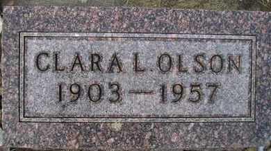 OLSON, CLARA L - Hamlin County, South Dakota | CLARA L OLSON - South Dakota Gravestone Photos
