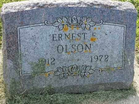 OLSON, ERNEST E - Hamlin County, South Dakota | ERNEST E OLSON - South Dakota Gravestone Photos