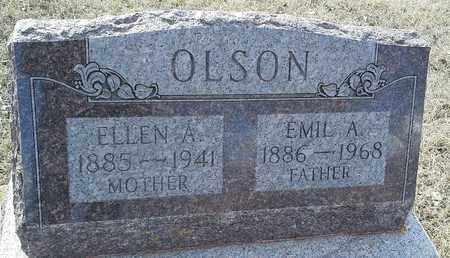 OLSON, ELLEN A - Hamlin County, South Dakota | ELLEN A OLSON - South Dakota Gravestone Photos