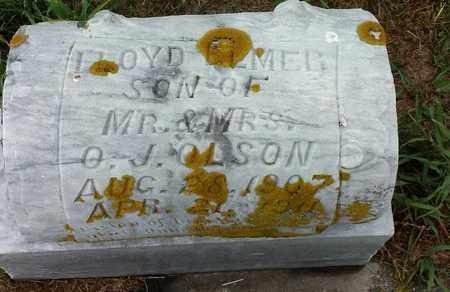 OLSON, FLOYD ELMER - Hamlin County, South Dakota   FLOYD ELMER OLSON - South Dakota Gravestone Photos