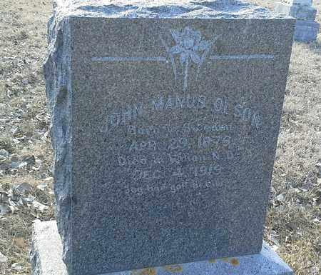 OLSON, JOHN MANUS - Hamlin County, South Dakota | JOHN MANUS OLSON - South Dakota Gravestone Photos