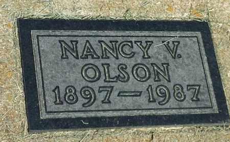 OLSON, NANCY V - Hamlin County, South Dakota | NANCY V OLSON - South Dakota Gravestone Photos