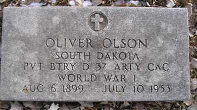 OLSON, OLIVER (MIL) - Hamlin County, South Dakota | OLIVER (MIL) OLSON - South Dakota Gravestone Photos