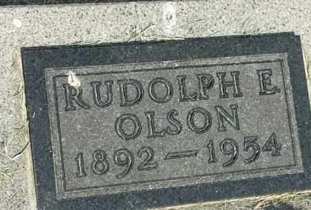OLSON, RUDOLPH E - Hamlin County, South Dakota | RUDOLPH E OLSON - South Dakota Gravestone Photos