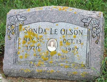 OLSON, SONDA LE - Hamlin County, South Dakota   SONDA LE OLSON - South Dakota Gravestone Photos