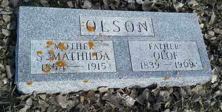 OLSON, S MATHILDA - Hamlin County, South Dakota | S MATHILDA OLSON - South Dakota Gravestone Photos
