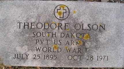 OLSON, THEODORE (MIL) - Hamlin County, South Dakota | THEODORE (MIL) OLSON - South Dakota Gravestone Photos
