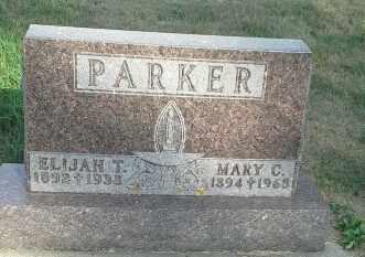 PARKER, MARY C - Hamlin County, South Dakota | MARY C PARKER - South Dakota Gravestone Photos