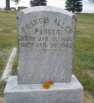 PARKER, FRANCES ALLEN - Hamlin County, South Dakota   FRANCES ALLEN PARKER - South Dakota Gravestone Photos