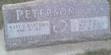 PETERSON, MARY R - Hamlin County, South Dakota | MARY R PETERSON - South Dakota Gravestone Photos