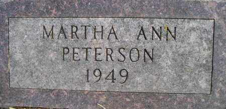 PETERSON, MARTHA ANN - Hamlin County, South Dakota | MARTHA ANN PETERSON - South Dakota Gravestone Photos