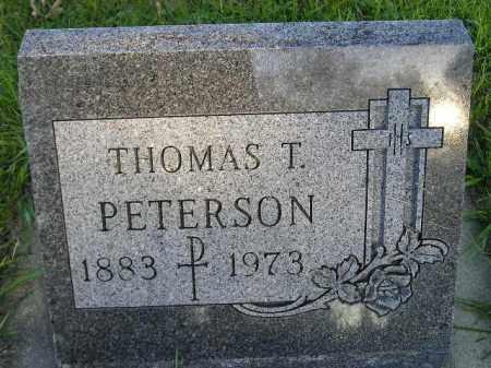 PETERSON, THOMAS T. - Hamlin County, South Dakota   THOMAS T. PETERSON - South Dakota Gravestone Photos