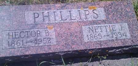 PHILLIPS, NETTIE J - Hamlin County, South Dakota | NETTIE J PHILLIPS - South Dakota Gravestone Photos