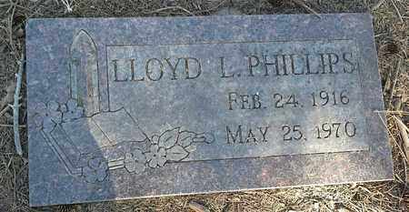 PHILLIPS, LLOYD L - Hamlin County, South Dakota | LLOYD L PHILLIPS - South Dakota Gravestone Photos