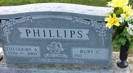 PHILLIPS, THEODORE A - Hamlin County, South Dakota | THEODORE A PHILLIPS - South Dakota Gravestone Photos