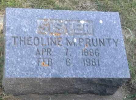 PRUNTY, THEOLINE M - Hamlin County, South Dakota | THEOLINE M PRUNTY - South Dakota Gravestone Photos