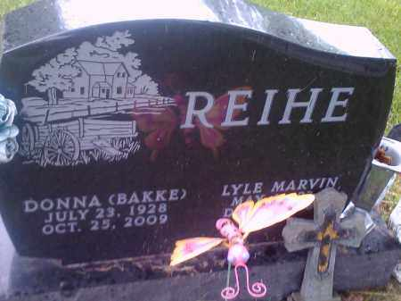 BAKKE REIHE, DONNA - Hamlin County, South Dakota | DONNA BAKKE REIHE - South Dakota Gravestone Photos