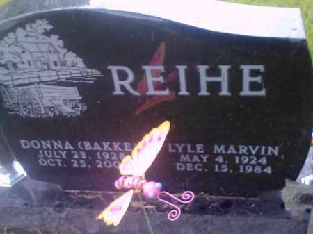 REIHE, LYLE MARVIN - Hamlin County, South Dakota   LYLE MARVIN REIHE - South Dakota Gravestone Photos