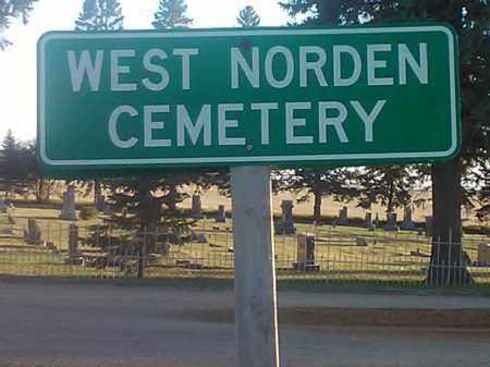 *WEST NORDEN, SIGN - Hamlin County, South Dakota | SIGN *WEST NORDEN - South Dakota Gravestone Photos