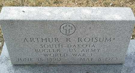 """ROISUM, ARTHUR R """"MILITARY"""" - Hamlin County, South Dakota   ARTHUR R """"MILITARY"""" ROISUM - South Dakota Gravestone Photos"""