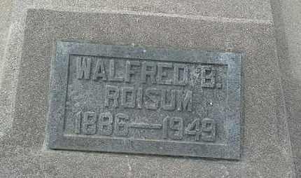 ROISUM, WALFRED B - Hamlin County, South Dakota   WALFRED B ROISUM - South Dakota Gravestone Photos