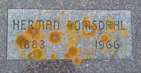 ROMSDAHL, HERMAN - Hamlin County, South Dakota | HERMAN ROMSDAHL - South Dakota Gravestone Photos