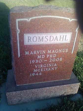 ROMSDAHL, MARVIN (MD PHD) - Hamlin County, South Dakota | MARVIN (MD PHD) ROMSDAHL - South Dakota Gravestone Photos