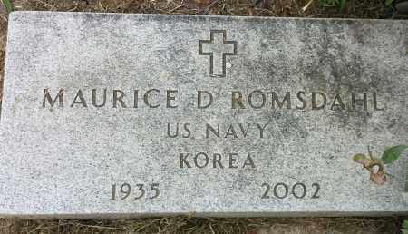 """ROMSDAHL, MAURICE D """"MILITARY"""" - Hamlin County, South Dakota   MAURICE D """"MILITARY"""" ROMSDAHL - South Dakota Gravestone Photos"""